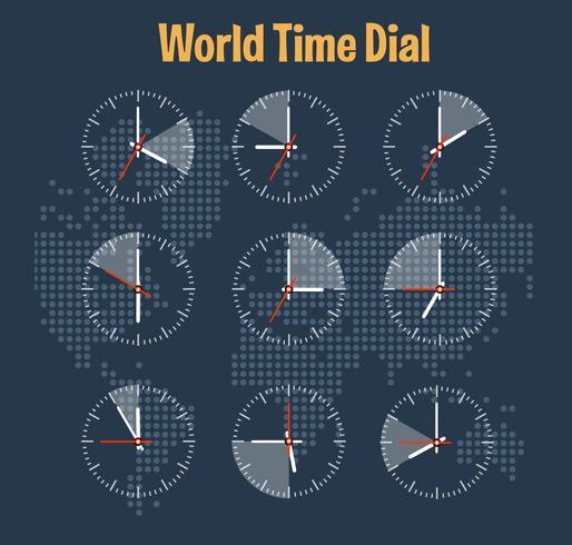 Infografia de hora mundial vetor