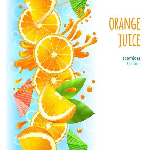 Fronteira de suco de laranja vetor