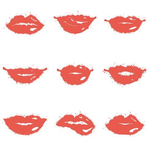 Conjunto de lábios vetor