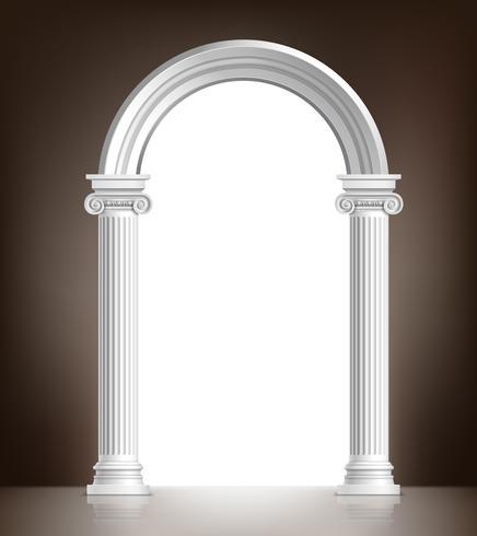 Arco branco realista vetor