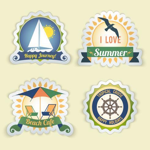 Emblemas do mar de verão vetor