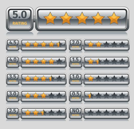 Estrelas de classificação vetor