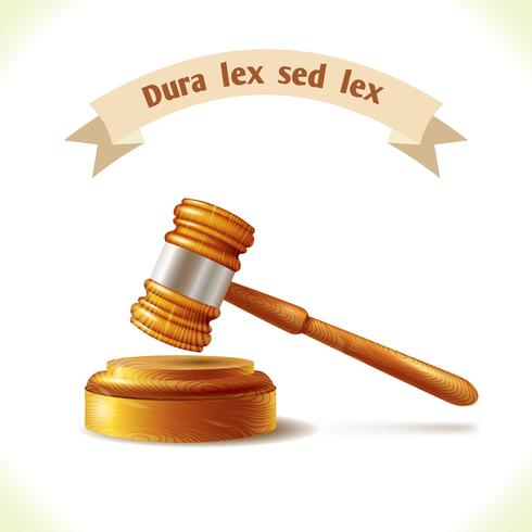 Martelo de juiz de ícone de lei vetor