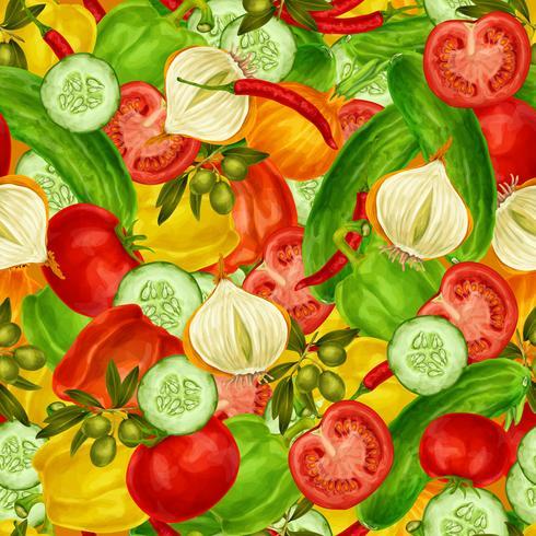Fundo sem emenda de legumes vetor