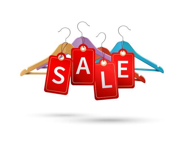 Etiquetas de venda de cabide vetor