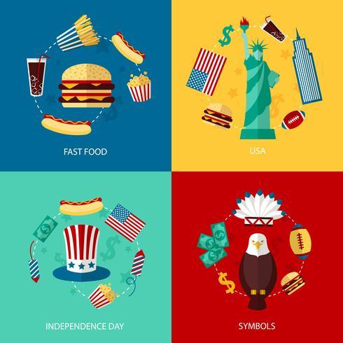 EUA conjunto plano vetor