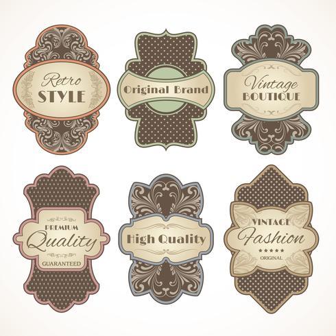 Conjunto de rótulos vintage vetor