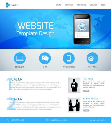 Modelo de design do site vetor