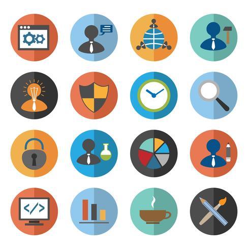 Conjunto de ícones de SEO vetor