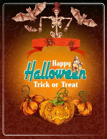 Fundo colorido de Halloween vetor