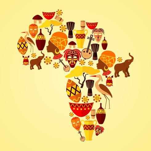 Padrão sem emenda de África vetor