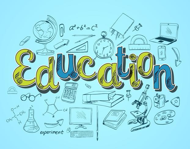 Conceito de ícone de educação vetor