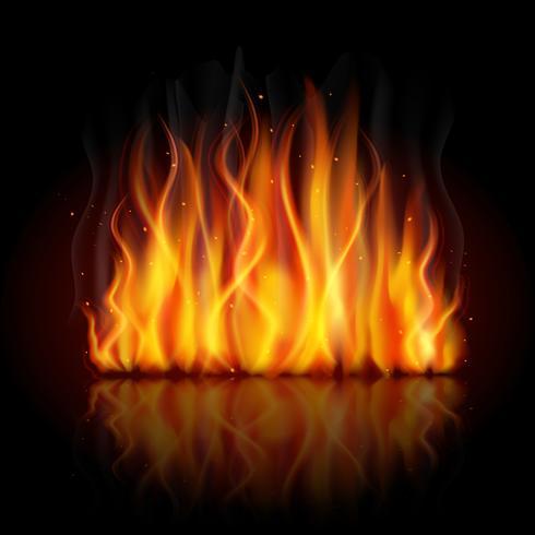 Fundo de chamas ardentes vetor