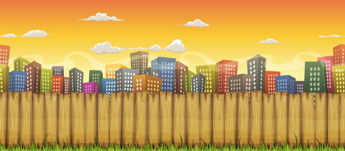 Fundo de paisagem de cidade sem emenda vetor