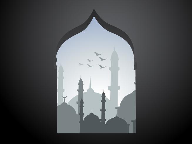 projeto ramadan kareem vetor