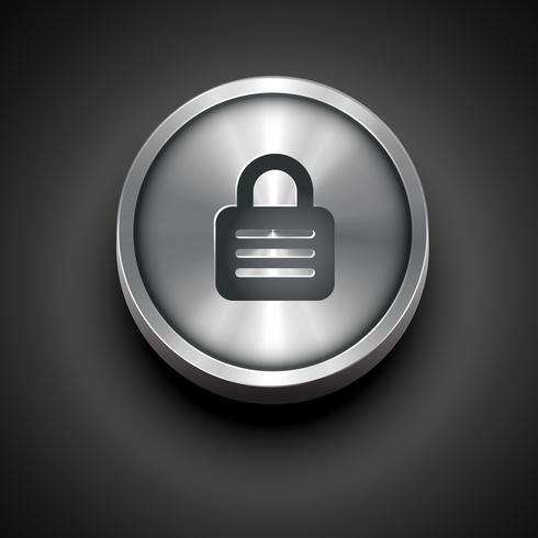 ícone de cadeado metálico vetor