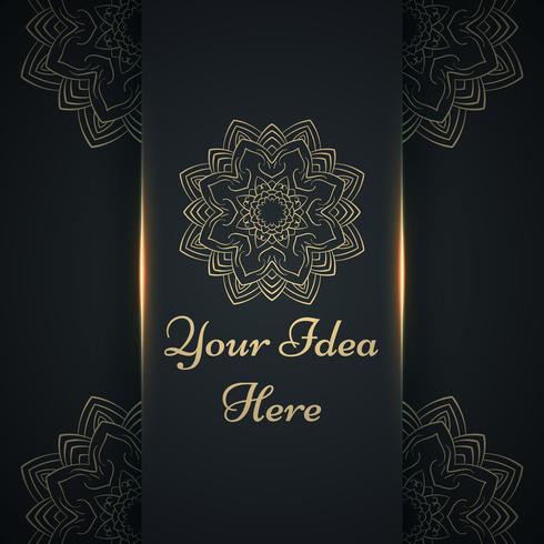 Mandala, mehendi - modelo étnico de ouro. vetor
