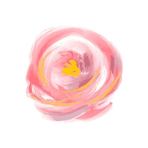 Vetor cor-de-rosa da flor bonito da aquarela da mola. Objeto isolado de arte para buquê de verão