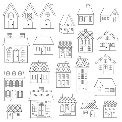 Casas Digital Selos Clipart vetor