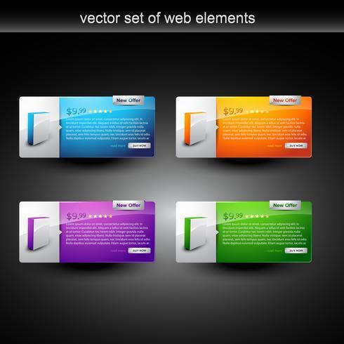 exibição de produtos da web vetor