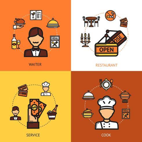 Conceito de design do restaurante vetor