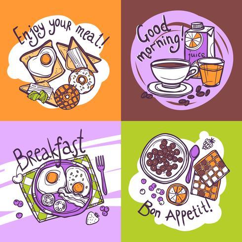 Conceito de Design de pequeno-almoço vetor