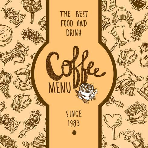 Rótulo do Menu de Café vetor