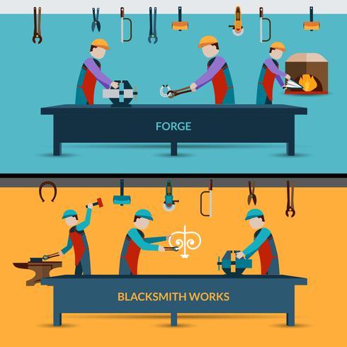 Ilustração de oficina de ferreiro vetor
