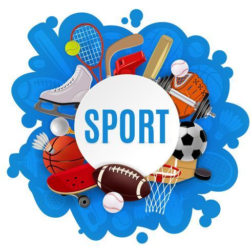 Conceito de equipamento de esporte vetor