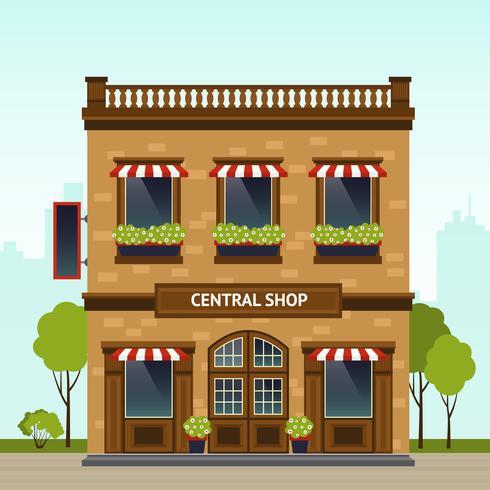 Ilustração de fachada de loja vetor