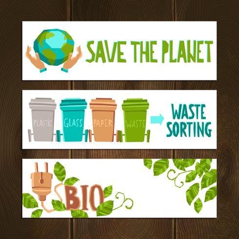 Conjunto de Banners Eco vetor