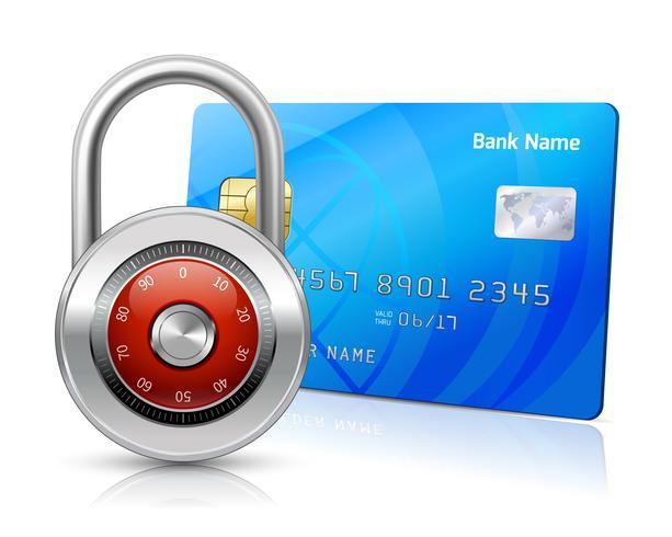 Conceito de segurança de pagamentos on-line vetor