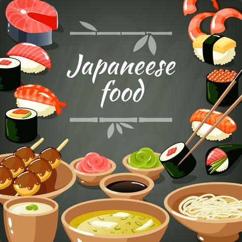Ilustração de comida de sushi vetor
