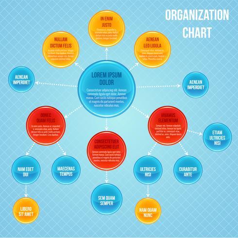 Infográfico de organograma vetor