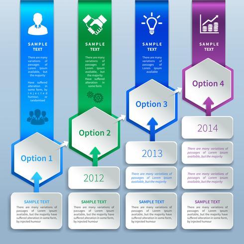 Opções de infográficos em papel vetor