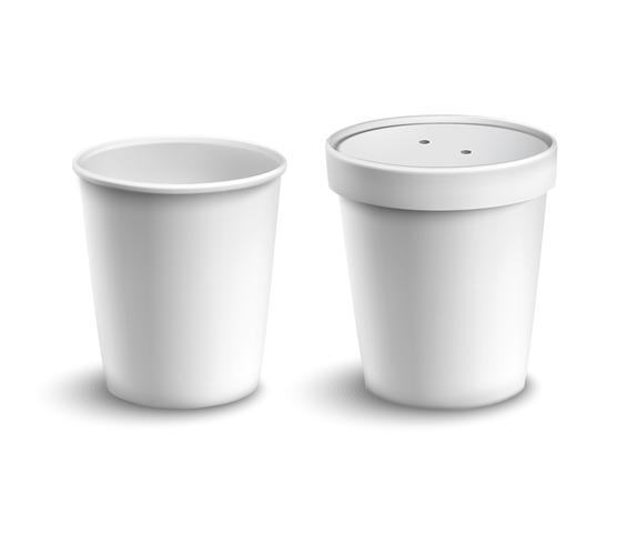 Xícara de café em branco vetor