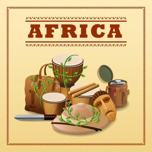 Fundo de viagens africanas vetor