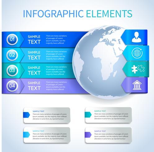 Elementos de infográficos de negócios papel abstrato vetor