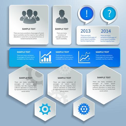 Elementos de design de infográficos de negócios de papel vetor