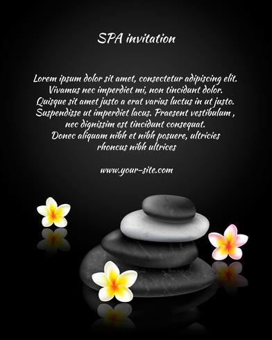 Cartão de convite de spa vetor