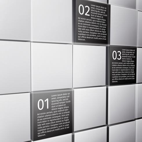 Elementos de design abstrato cubos infográfico vetor