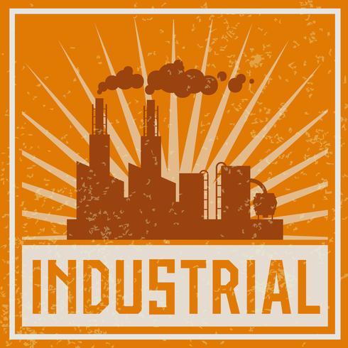 Ícone de construção industrial vetor