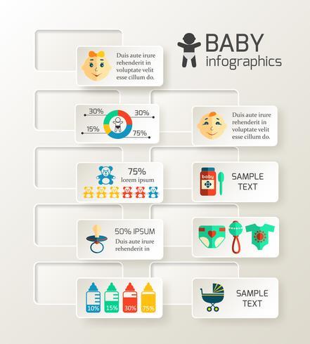 Infográfico de criança bebê vetor