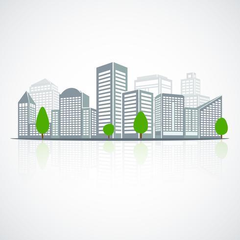 Emblema de paisagem de construção vetor