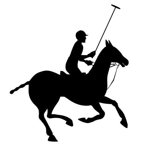 Cartaz de silhueta de polo de cavalo vetor