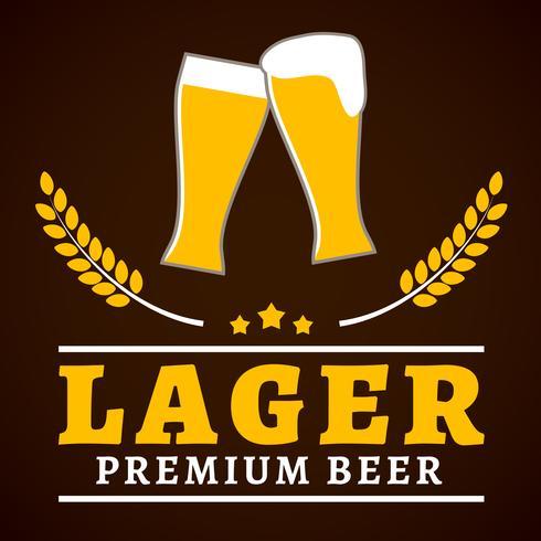 Cartaz de cerveja lager vetor