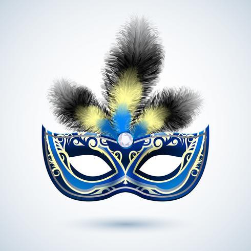 Emblema de máscara de festa vetor