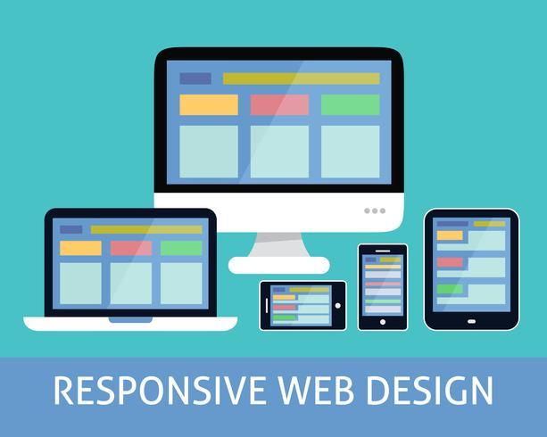 Conceito de design web responsivo vetor