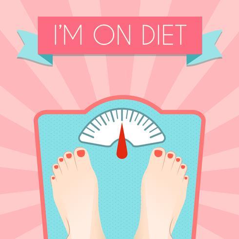 Cartaz de peso de dieta saudável vetor