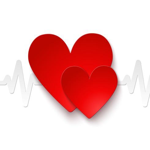 Emblema da frequência cardíaca vetor